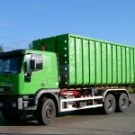 Container-LKW mit Hakenlift