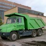 Baustellenkipperfahrzeug