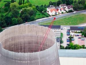 Lippendorf/ Rückbau Kühlturm